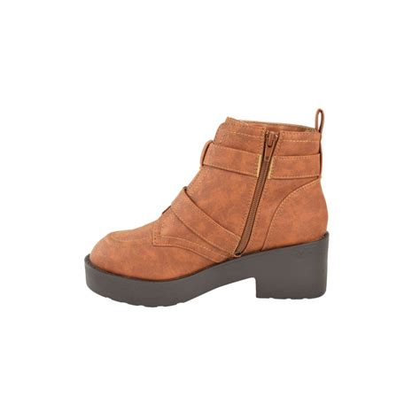 miley buckle flat ankle boots parisia fashion