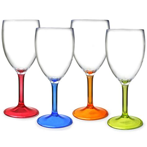 plastic barware flamefield acrylic party wine glasses 10oz 290ml plastic wine glasses acrylic wine
