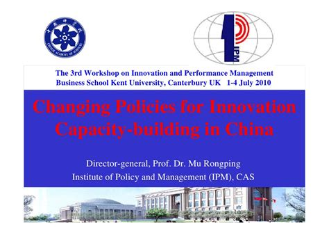 Innovation Mba Uk by Paper 1 Changing Policy For Innovation Capacity Building Mu