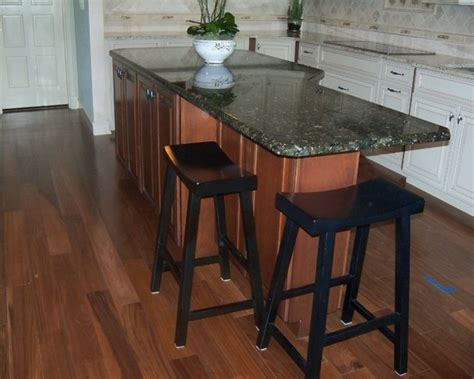 odd shaped island  incorporate stools home decor