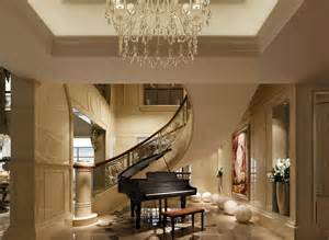Villa Interior Design Villa Interior Design Stairwell With Piano