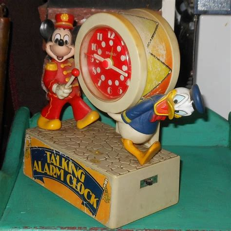 bradley talking alarm clock with mickey mouse and donald duck collectors weekly