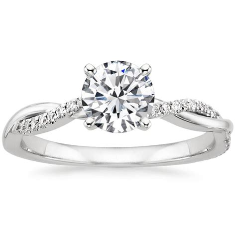 twist engagement ring twisted vine brilliant earth