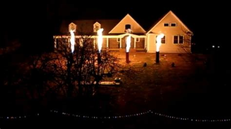 Christmas Light Show Heats Up Jersey Shore Video Abc News Light Show New Jersey