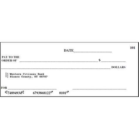 pretend checks template 9 best images of printable checks for classroom