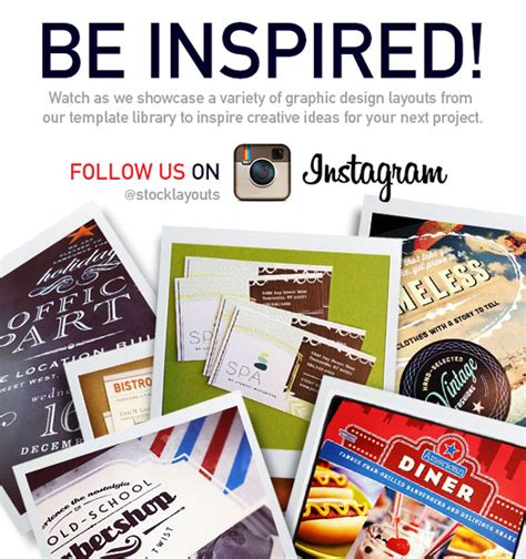 instagram design for today be inspired follow stocklayouts on instagram