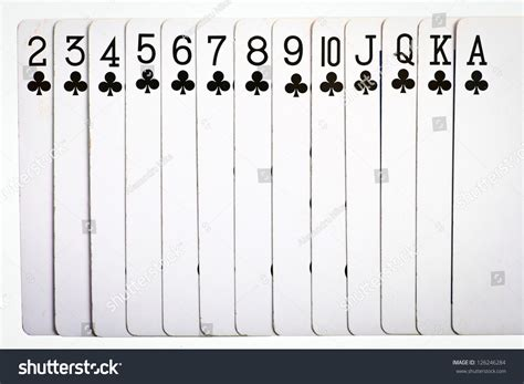 order cards cards ascending order clubs stock photo 126246284