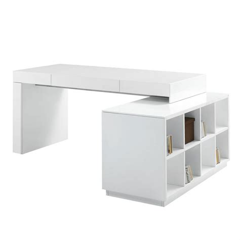 modern white l shaped desk interior exterior homie