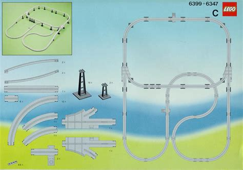 Building Plans Images Lego Monorail Extension Instructions 6347 City