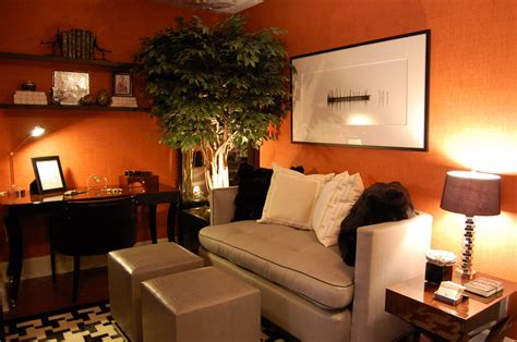 room orange southgate residential it s the great pumpkin colored room brown