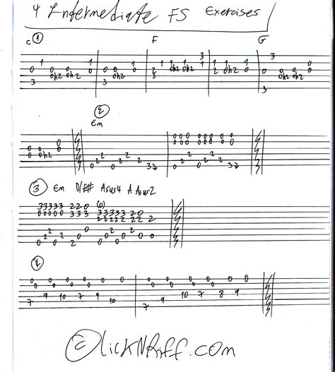 make up your own riffs 4 intermediate fs exercise riffs 171 lickn riff create