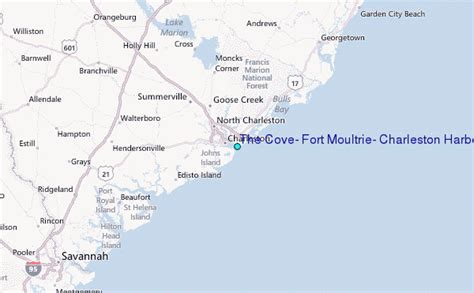 fort location map the cove fort moultrie charleston harbor south carolina