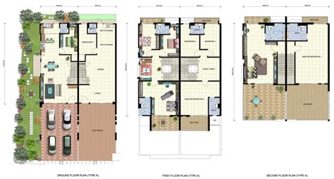 3 storey terrace house design terraced house plans images