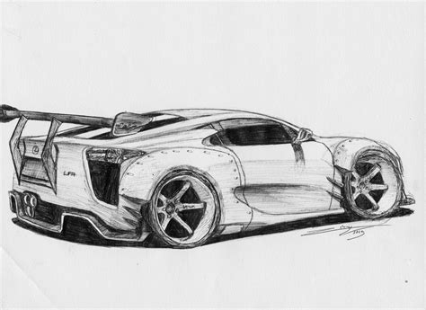 lexus lfa drawing lexus lfa bensopra by erithdorpl on deviantart