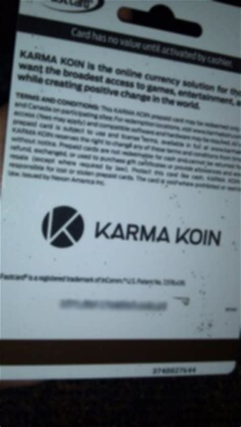 Karma Koin Gift Card - free 5 dollar karma koin gift card read description carefully before bidding gift