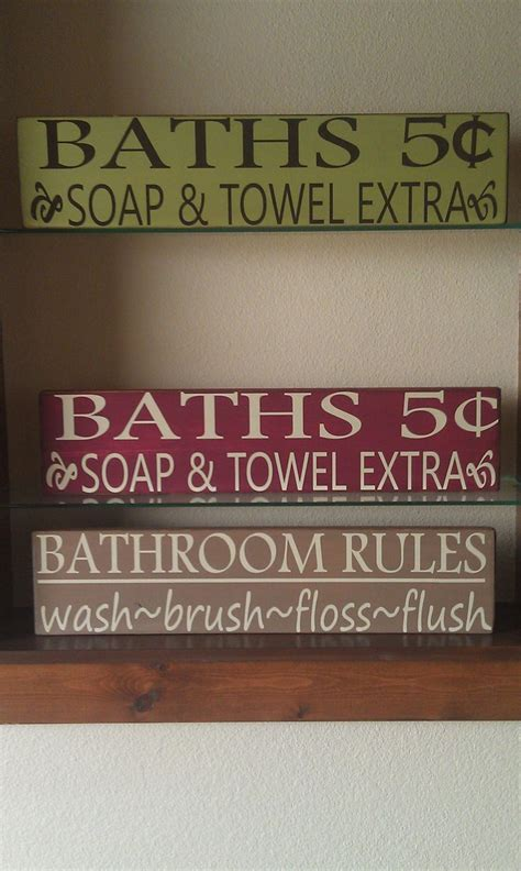 sayings for bathroom signs bathroom sign diy inspiration bathroom pinterest