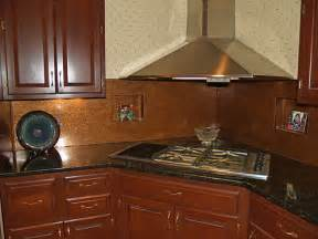 copper kitchen backsplash distressed copper backsplash copper backsplash made from