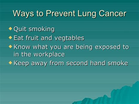Six Great Ways To Prevent Lung Cancer