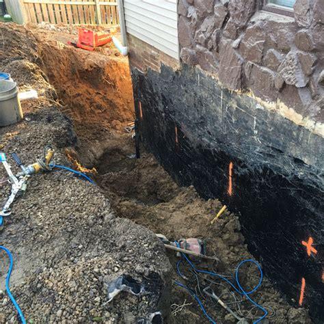 basement foundation waterproofing basement waterproofing mcf construction and foundations