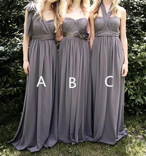 Grey Bridesmaid Dress by Grey Bridesmaid Dresses Chiffon Bridesmaid Dress By
