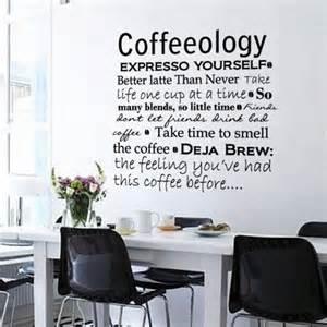 Kitchen Wall Decor Stickers dark grey vinyl coffee kitchen office interior decor wall art sticker