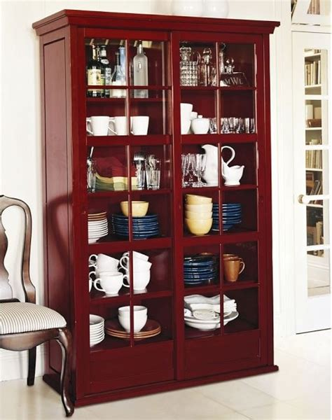 Pottery Barn Glass Cabinet garrett glass cabinet ming contemporary by