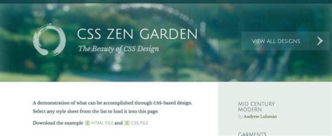 css tutorial zen garden beginner resources where to learn css online wdexplorer