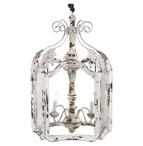 amelie white wash shabby chic country lantern pendant