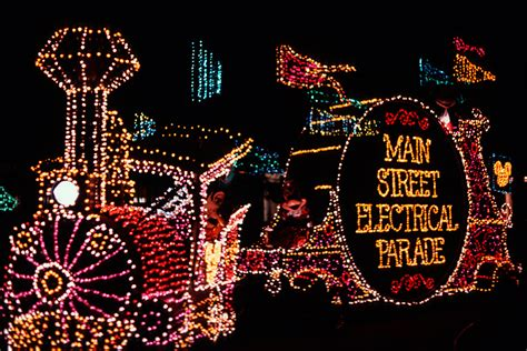 step in time electrical parade lights up