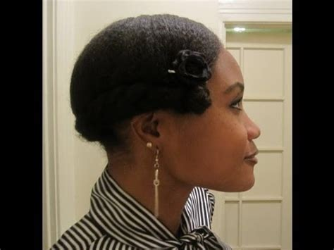 protective hairstyle: 1920's flapper girl inspired hair