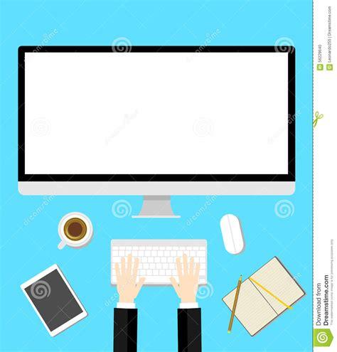 flat layout photography work desk flat design stock photo image 56229640