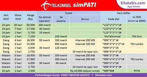 daftar paket internet januari 2018 promo internet murah telkomsel 2018 paket nelpon tm