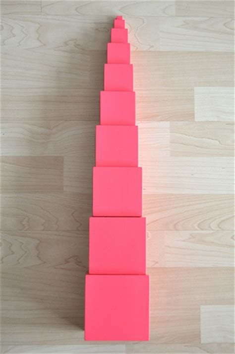Pink Tower 1 sorting sprinkles s day for preschoolers part 3