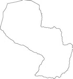Outline Picture Of A by Geography Paraguay Outline Maps