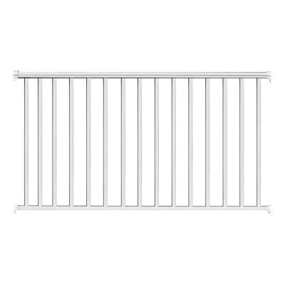 white banister rail ez handrail 8 ft x 42 in white aluminum baluster railing kit ez8cw the home depot