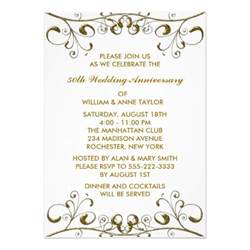 gold swirls 50th wedding anniversary invitations 5 quot x 7 quot invitation card zazzle