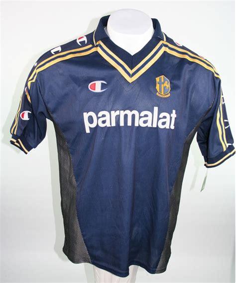 Jersey Parma 200102 Original chion ac parma trikot 9 crespo 1999 2000 parmalat herren s m l xl g 252 nstig kaufen