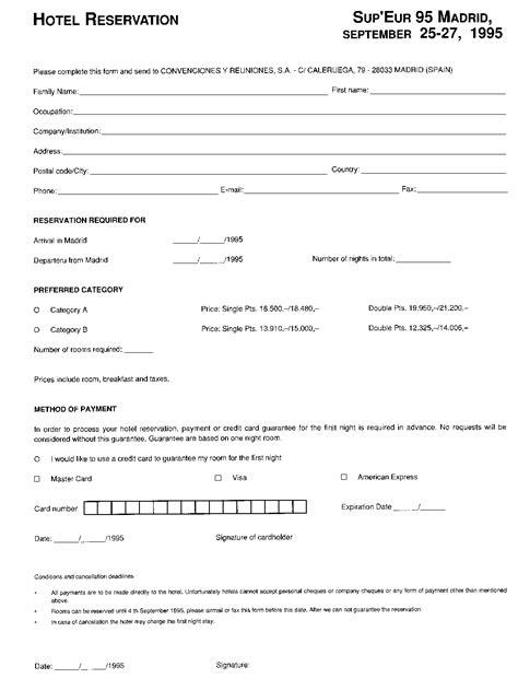 Reservation Letter Is hotel reservation form images cv letter and