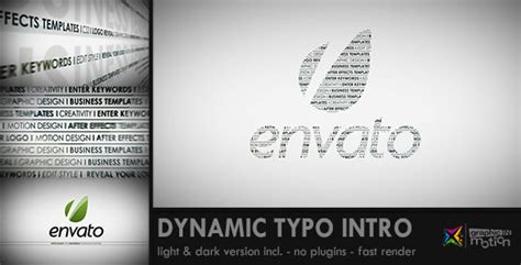 dynamic typography tutorial after effects after effects project videohive dynamic typo intro