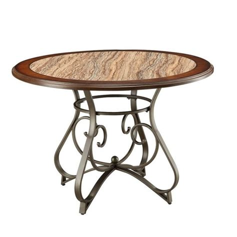 Cherry Oak Dining Table Acme Furniture Barrie Dining Table In Cherry Oak And Bronze 7064 Barrie Dt Kit