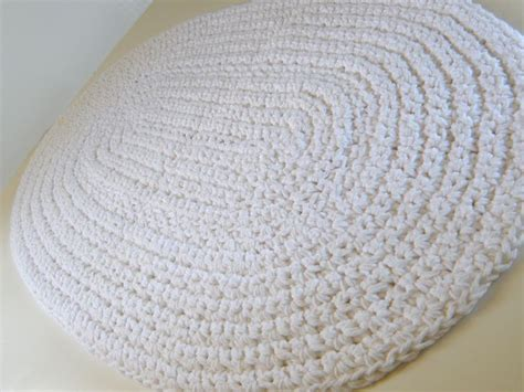 crochet bathroom rug white bath rug white cotton bath mat crochet cotton
