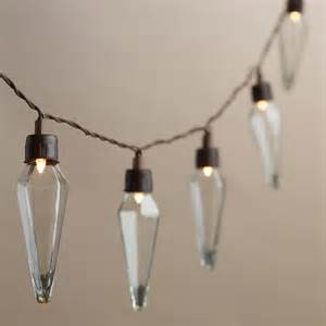 clear bulb string lights clear prism solar led 20 bulb string lights world market