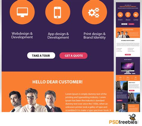 emailer template corporate emailer free psd template psdfreebies