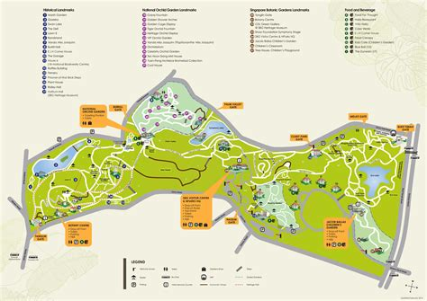 Darwin Day 2015 Singapore Botanical Garden Map