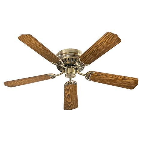 quorum lighting hugger antique brass ceiling fan without