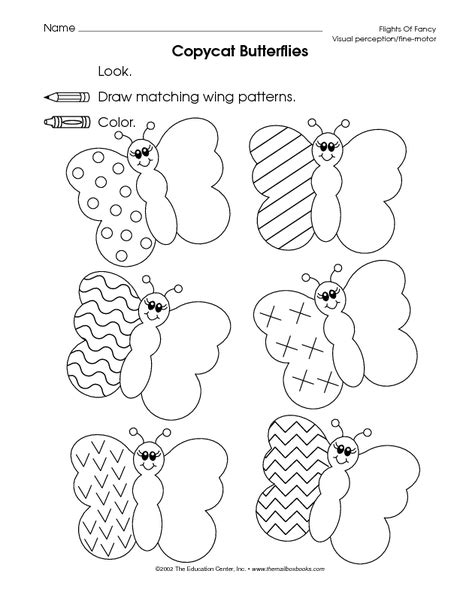 pattern activities for preschoolers pinterest copy butterfly patterns fine motor skills tracing