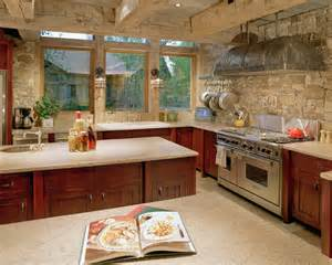sleek traditional kitchen stone backsplash ideas snake river residence olpos design