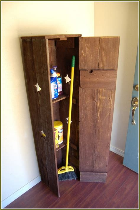 broom storage cabinet wood broom closet cabinet wood home design ideas