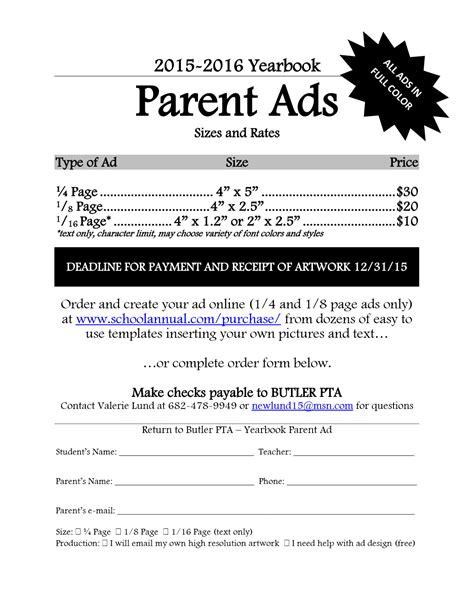Yearbook Sales & Ads ? Butler Elementary PTA
