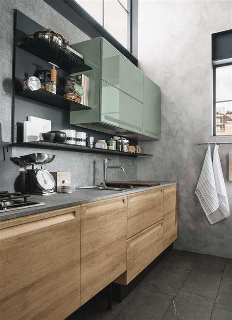 cucina moderna isola cucina moderna con isola e piano lavoro olmo industrial in